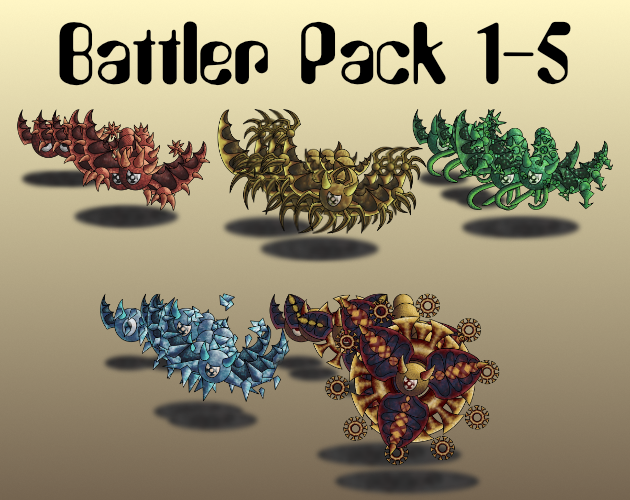 Monster Battler Pack Creatures 1-5