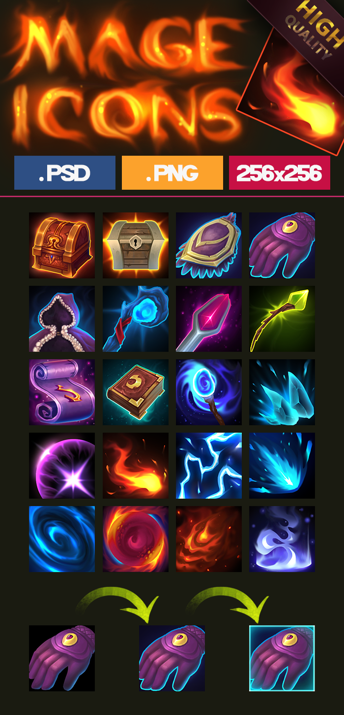 Mage Icons