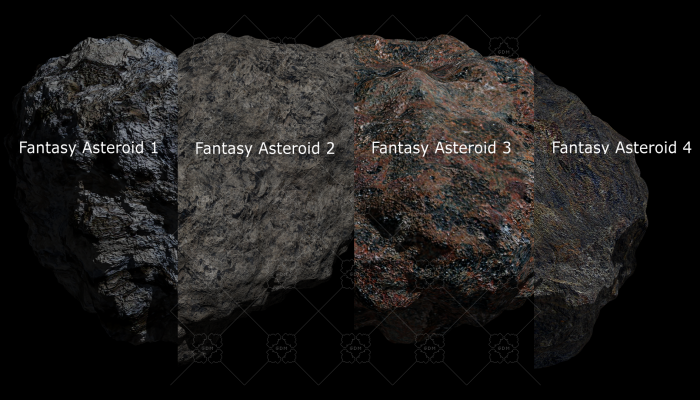Fantasy Asteroid Collection