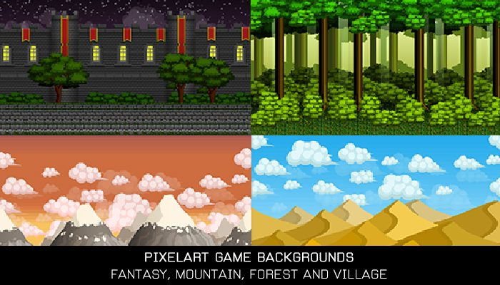 Pixelart Game Backgrounds