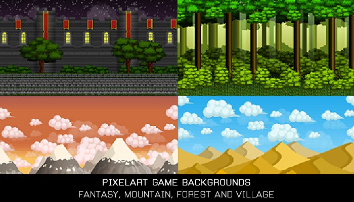 Pixelart Game Backgrounds
