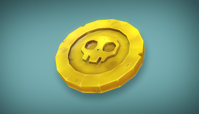 3d Pirate Coin