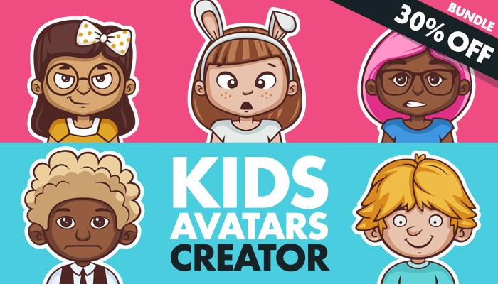Kids Avatars Creator + 80 Characters