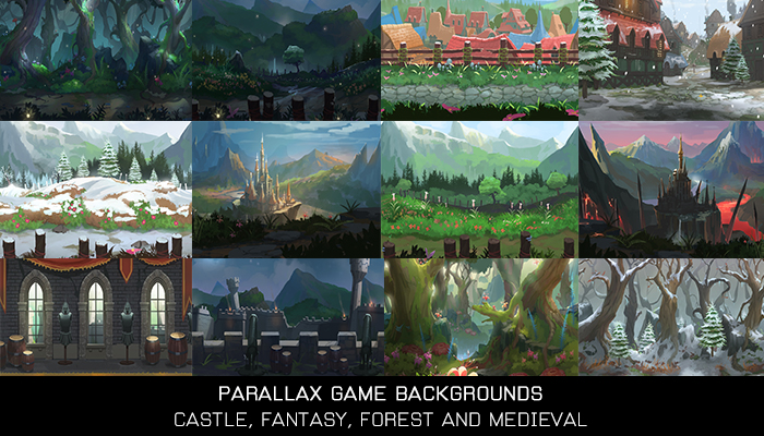 19 Parallax Game Backgrounds