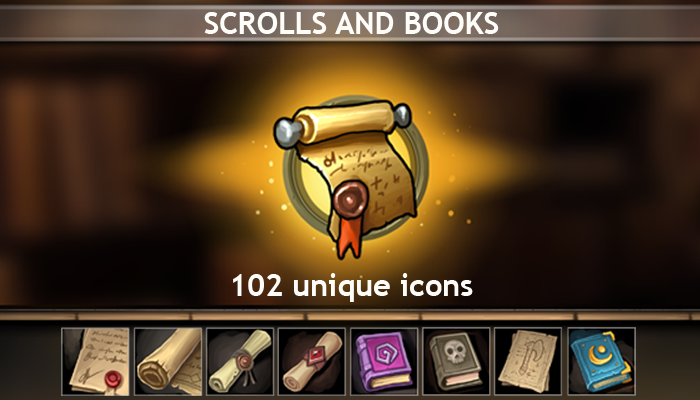 Scrolls and Books Icons
