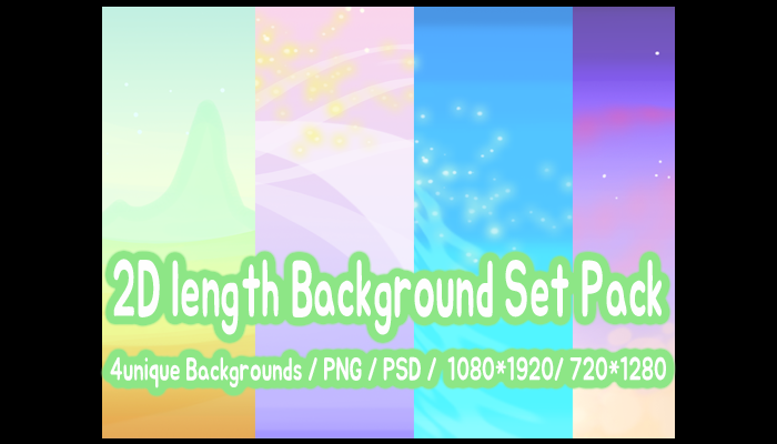 2D length Background Set Pack