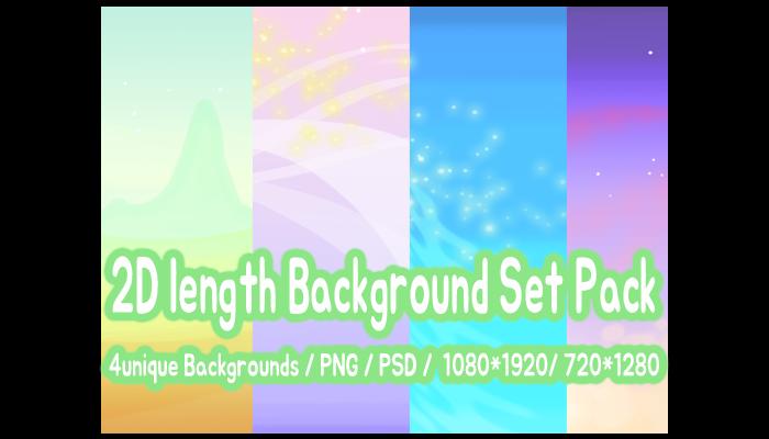 2D length Background Set Pack