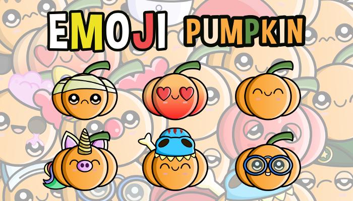 Emoji Emotion Pumpkin Faces
