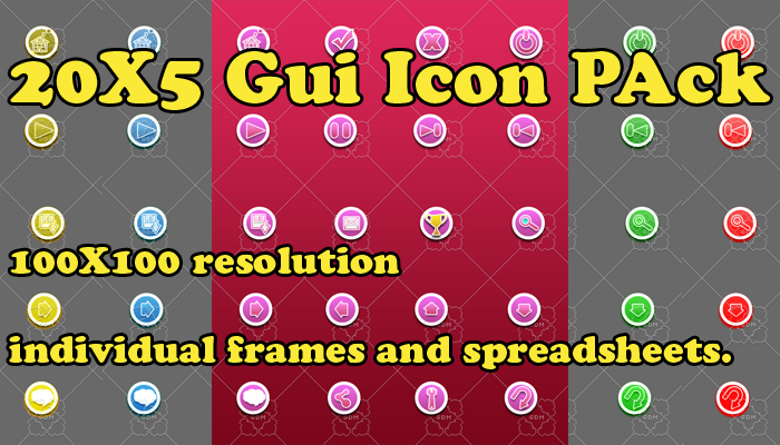 Gui Icon PAck 20X5
