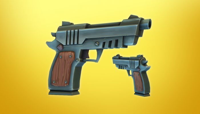 3d Low Poly Pistol