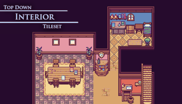 Top-Down Tileset – Interior –