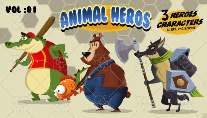 Animal Heroes Vol:01