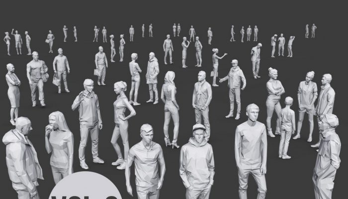 Complete Lowpoly People Pack Volume 2
