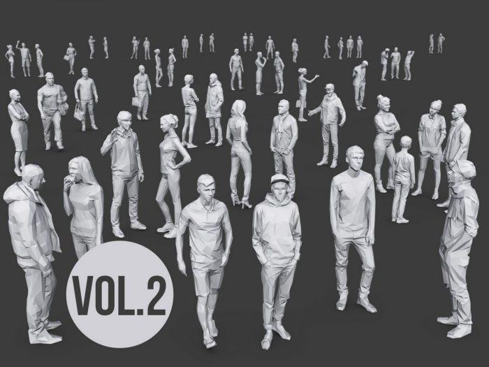 Complete Lowpoly People Pack Volume 2