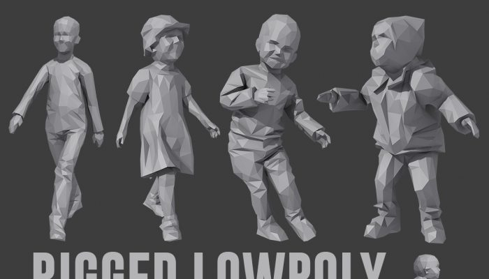 Rigged Lowpoly Children Pack