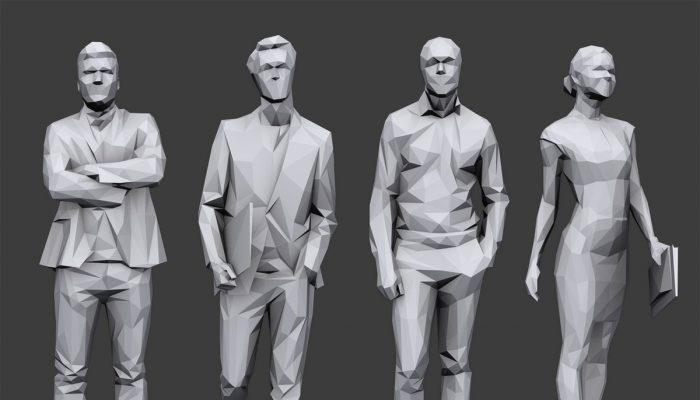 Lowpoly People Business Pack