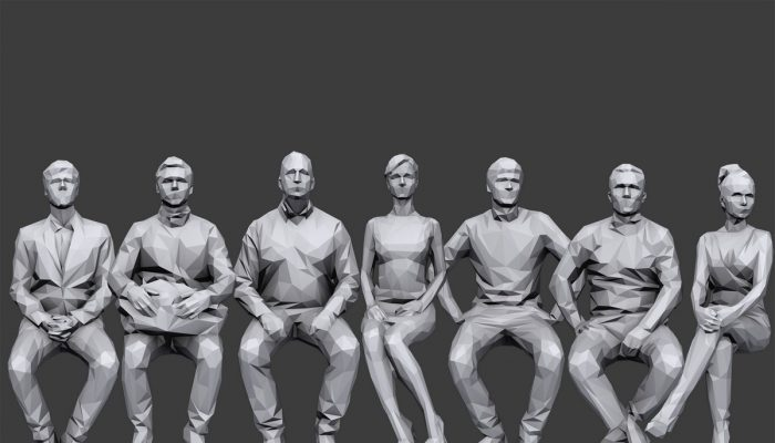 Lowpoly People Sitting Pack Volume 3