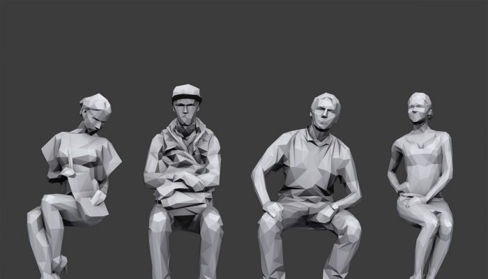 Lowpoly People Sitting Pack Volume 1