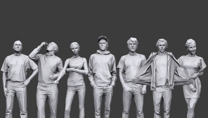 Lowpoly People Casual Pack Volume 19