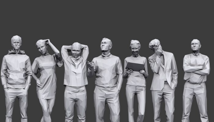 Lowpoly People Casual Pack Volume 18