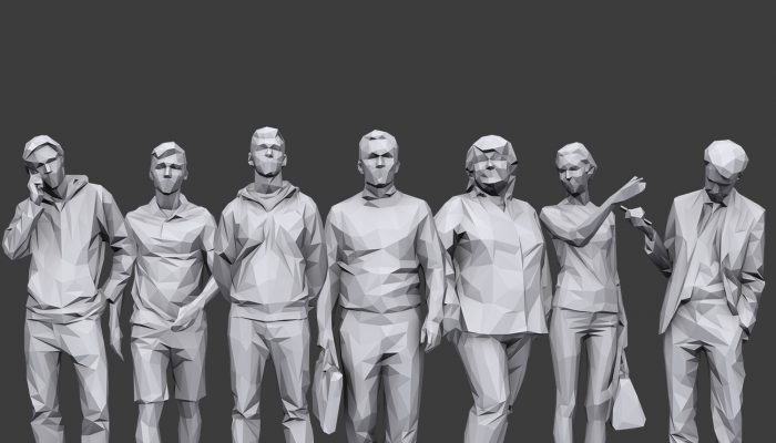 Lowpoly People Casual Pack Volume 17