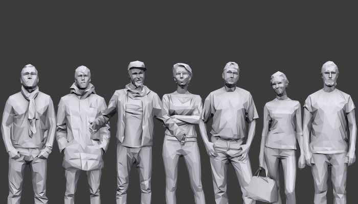 Lowpoly People Casual Pack Volume 16