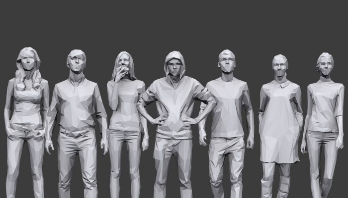 Lowpoly People Casual Pack Volume 12