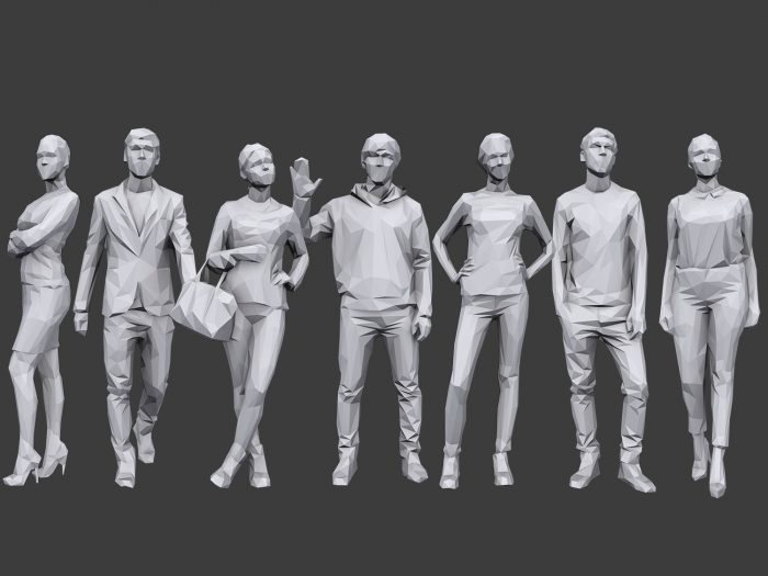 Lowpoly People Casual Pack Volume 11