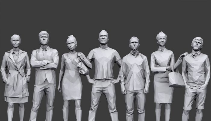 Lowpoly People Casual Pack Volume 9