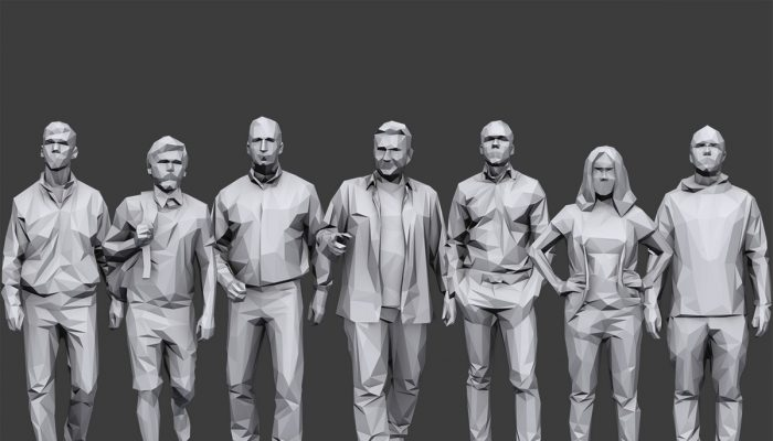 Lowpoly People Casual Pack Volume 8