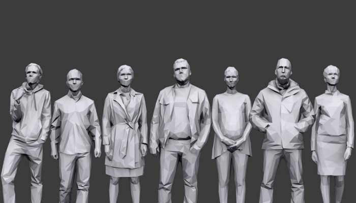 Lowpoly People Casual Pack Volume 7