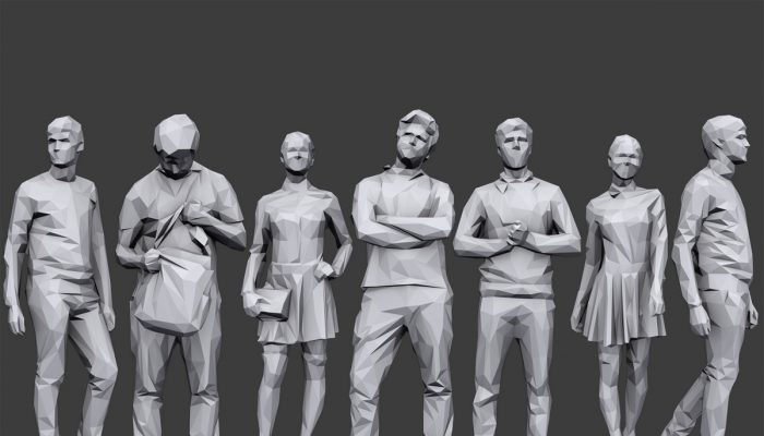 Lowpoly People Casual Pack Volume 4
