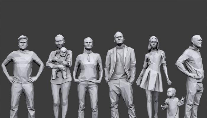 Lowpoly People Casual Pack Volume 3