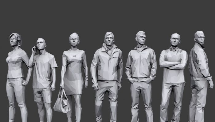 Lowpoly People Casual Pack Volume 1
