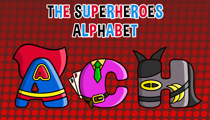 Assets For Children´s Games – The Superheroes Alphabet (ENG-SPAN.)