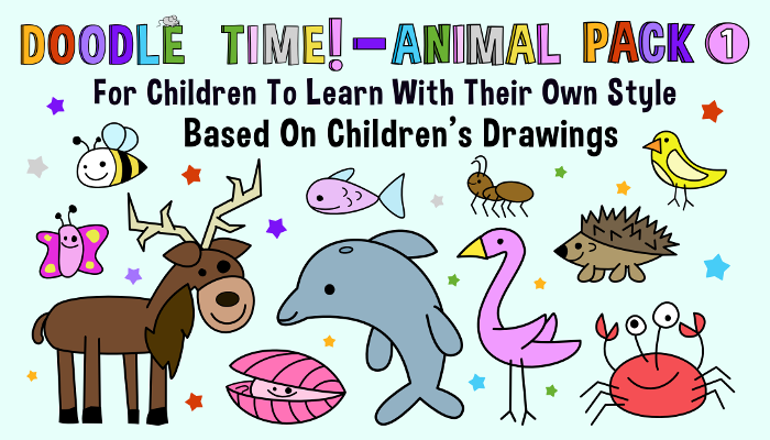 Doodle Time – Assets For Children´s Games (Animal Pack 1)