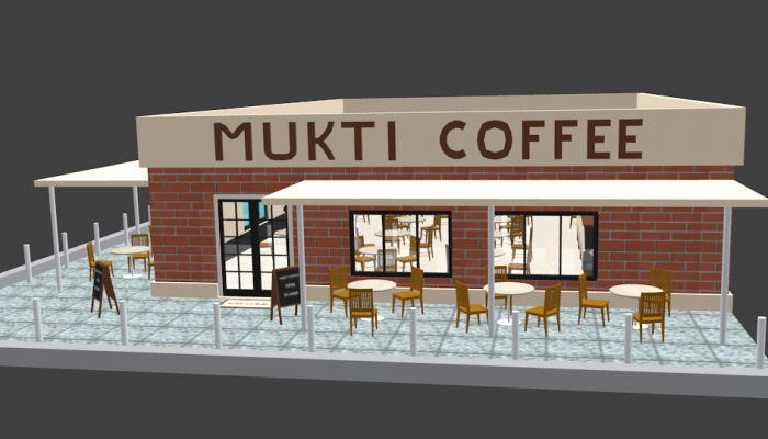 Mukti Coffee Shop 3D Low Poly