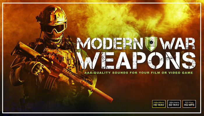 MILITARY WEAPONS OF WAR SOUND EFFECTS LIBRARY – Army Combat Battlefield Weapon Sounds [Warfare SFX]