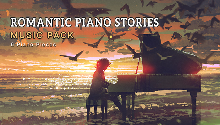 Romantic Piano Stories Music Pack