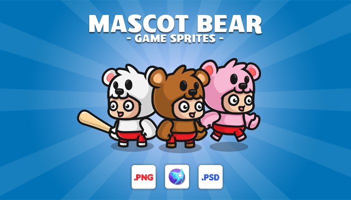 Kid Mascot Bear Game Characters