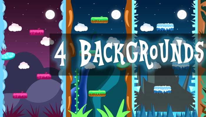 VERTICAL 2D GAME BACKGROUNDS