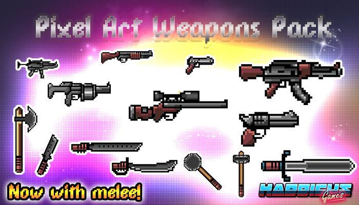 2D Pixel Art Weapons Pack