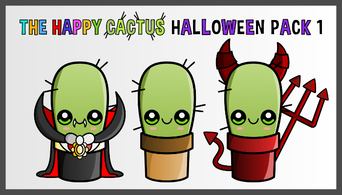 Assets For Children´s Games – The Happy Cactus (Halloween Pack 1)