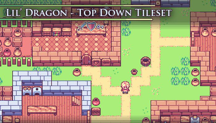 Lil' Dragon – Pixel Art Tileset