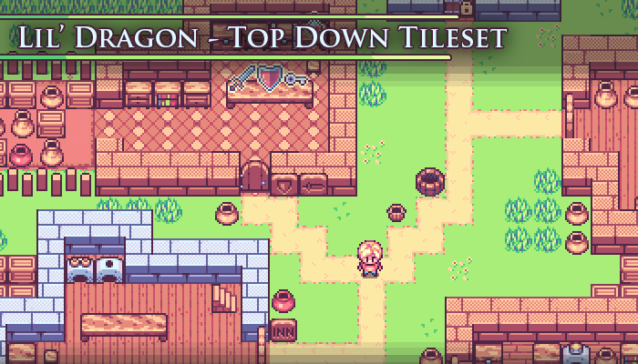Lil' Dragon – Pixel Art Tileset
