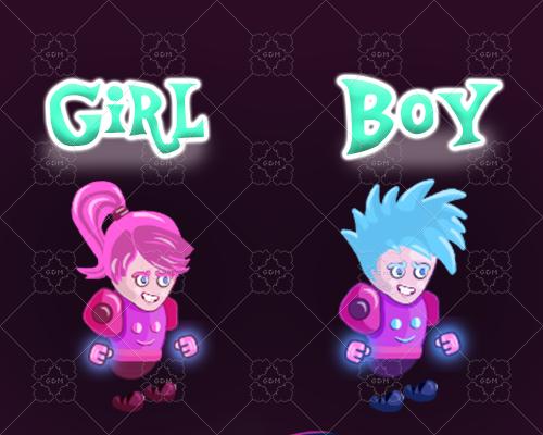 Girl & Boy Characters
