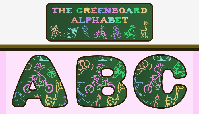 Assets For Children´s Games – The Greenboard Alphabet (ENG-SPAN.)