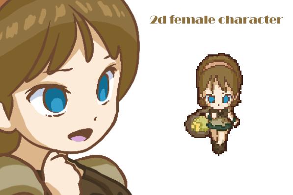 Medieval girl pixel