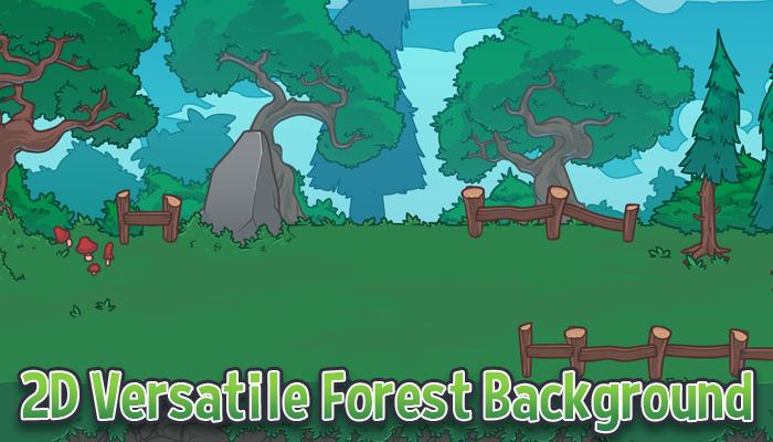 2D Forest Background & Tileset