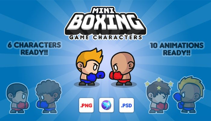 Mini Boxing Characters